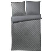 BETTWÄSCHE Makosatin Grau, Silberfarben 135/200 cm - Silberfarben/Grau, Basics, Textil (135/200cm) - Joop!