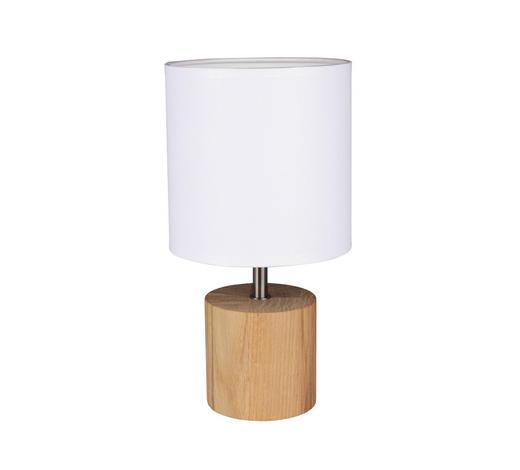 STOLNÍ LAMPA - bílá/hnědá, Basics, kov/dřevo (15/30/15cm) - Marama