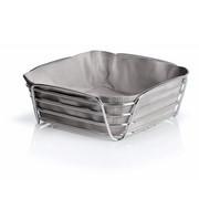 BROTKORB  - Taupe/Silberfarben, Basics, Textil/Metall (25,7/9,3/25,7cm) - Blomus