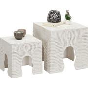 BEISTELLTISCH in Weiß - Weiß, Trend, Holzwerkstoff (40/30/40/30/40/30cm) - Ambia Home
