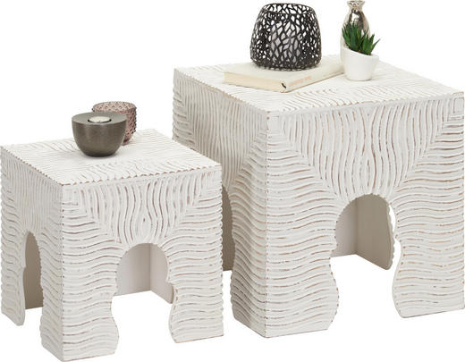 BEISTELLTISCH in Holzwerkstoff 40/30 40/30 40/30 cm - Weiß, Trend, Holzwerkstoff (40/30 40/30 40/30cm) - Ambia Home