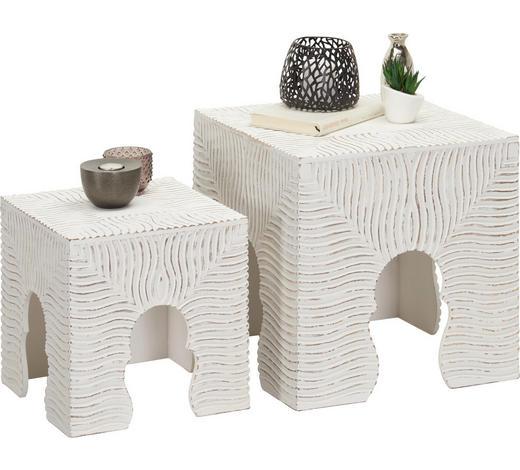 BEISTELLTISCH in Holzwerkstoff 40/30/40/30/40/30 cm   - Weiß, Trend, Holzwerkstoff (40/30/40/30/40/30cm) - Ambia Home