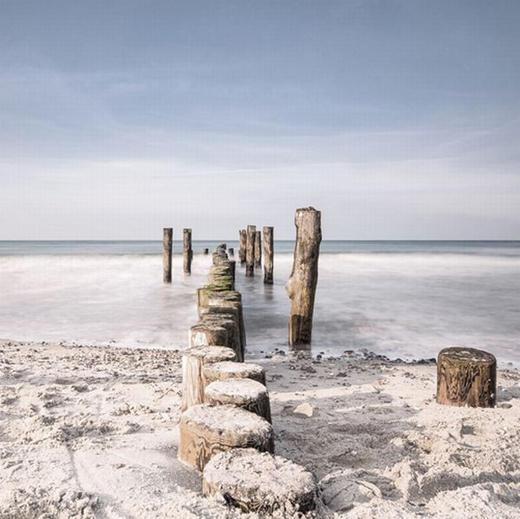 Landschaft & Natur, Strand & Meer GLASBILD - Multicolor, Basics, Glas (50/50/2cm) - EUROGRAPHICS