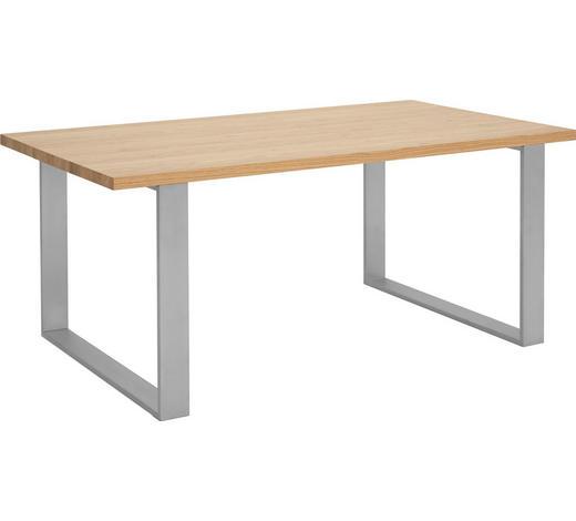 ESSTISCH in Holz, Metall, Holzwerkstoff - Edelstahlfarben/Eichefarben, Design, Holz/Holzwerkstoff (180/75/100cm) - Now by Hülsta