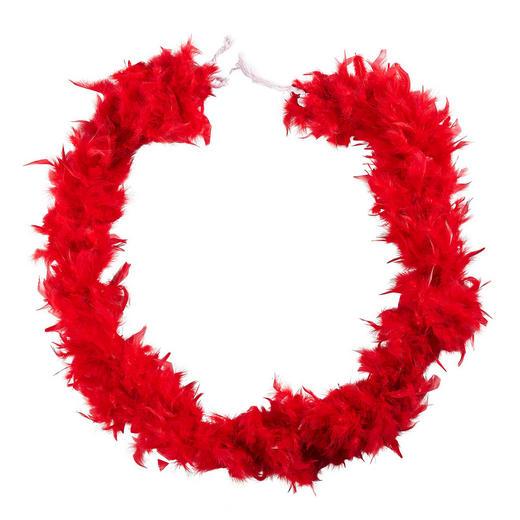 Federboa  Rot - Rot, Basics, Textil (184cm)