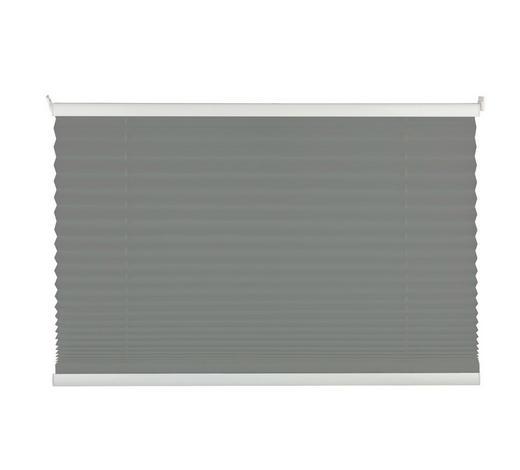 PLISSEE  halbtransparent   60/130 cm   - Hellgrau, Design, Textil (60/130cm) - Homeware