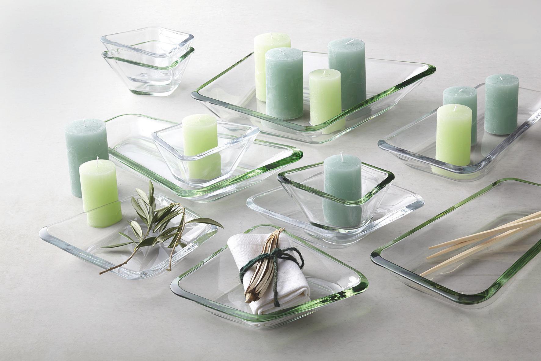 SCHALE - Grün, Glas (34,00/30,4/6,5cm) - LEONARDO