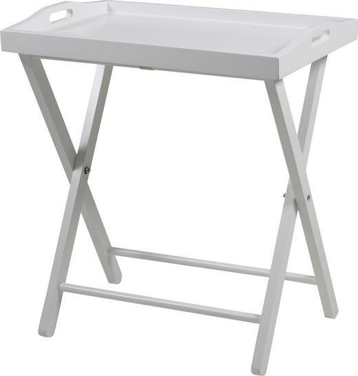 BEISTELLTISCH Kiefer massiv Weiß - Weiß, Basics, Holz (56/63/37cm) - Carryhome