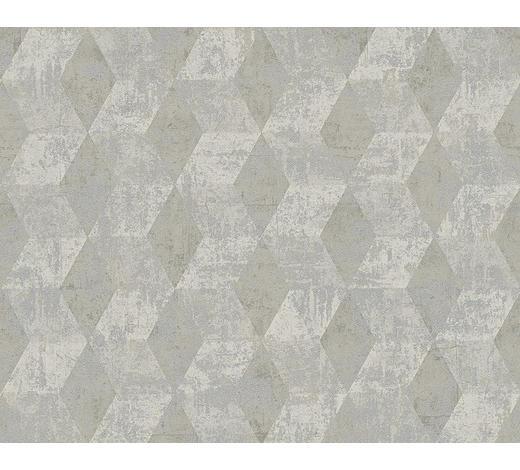 VLIESTAPETE 10,05 m  - Grau, Basics, Textil (53/1005cm)