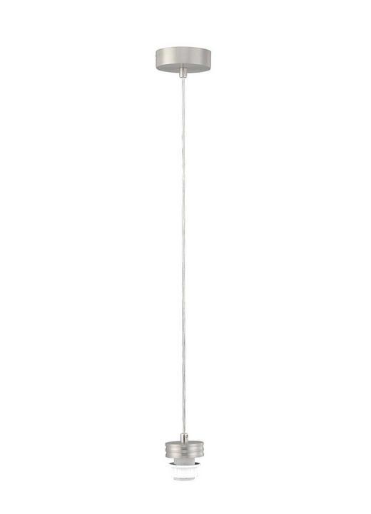 HÄNGELEUCHTE - Transparent/Nickelfarben, KONVENTIONELL, Metall (210cm)