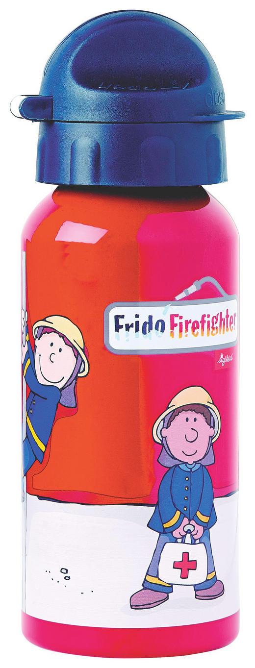 Trinkflasche - Blau/Rot, Basics, Kunststoff/Metall (18/6,5/6,5cm) - Sigikid