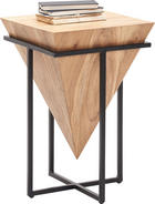 BEISTELLTISCH in Naturfarben, Schwarz - Schwarz/Naturfarben, Trend, Holz/Metall (41/66/41cm) - Ambia Home
