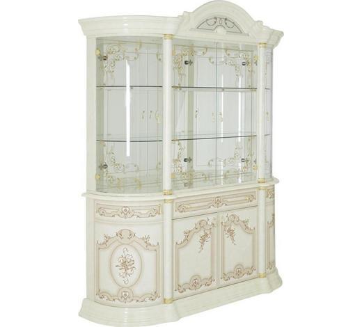 VITRÍNA, béžová - barvy zlata/béžová, Lifestyle, kov/kompozitní dřevo (189/228/56cm) - Cantus