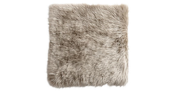 SITZKISSEN  34/34 cm   - Taupe, KONVENTIONELL, Textil/Fell (34/34cm) - Esposa