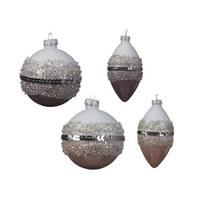 KROGLICA ZA NA JELKO 061385 - večbarvno, Basics, steklo (41cm) - X-Mas