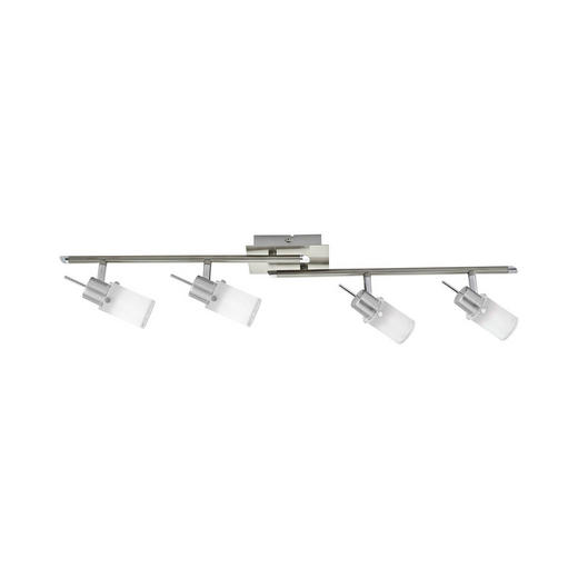 LED-STRAHLER - Weiß/Nickelfarben, KONVENTIONELL, Glas/Metall (82/24/19cm) - Novel
