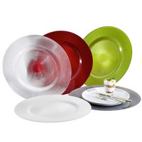PLATZTELLER 34 cm - Transparent, Basics, Glas (34cm) - NOVEL