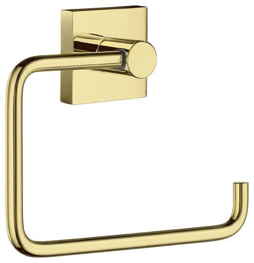 TOILETTENPAPIERHALTER - Goldfarben, LIFESTYLE, Metall (14/11,5/3,9cm)