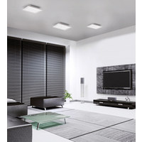 STROPNA LED SVETILKA FLAT - bela, Design, kovina (30/30/5,8cm)