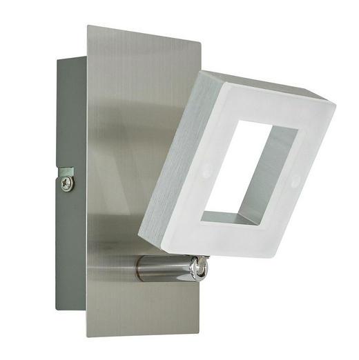 LED-STRAHLER - Alufarben/Nickelfarben, Design, Kunststoff/Metall (14/8/15,5cm) - Novel