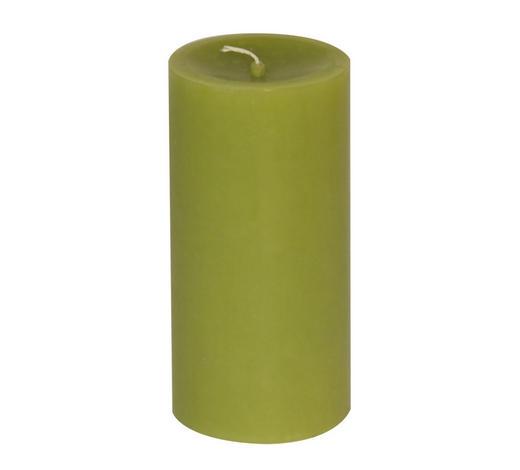 STUMPENKERZE 5,8/12 cm - Hellgrün, Basics (5,8/12cm) - Steinhart