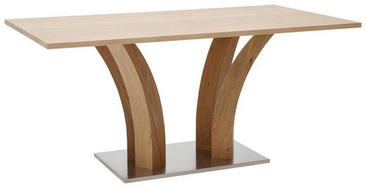 ESSTISCH Wildeiche furniert rechteckig Edelstahlfarben, Eichefarben - Edelstahlfarben/Eichefarben, Design, Holz/Metall (160/90/76cm) - Dieter Knoll
