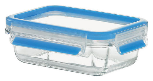FRISCHHALTEDOSE 0,5 L - Klar/Blau, Basics, Glas/Kunststoff (19,3/13,4/6,4cm) - EMSA