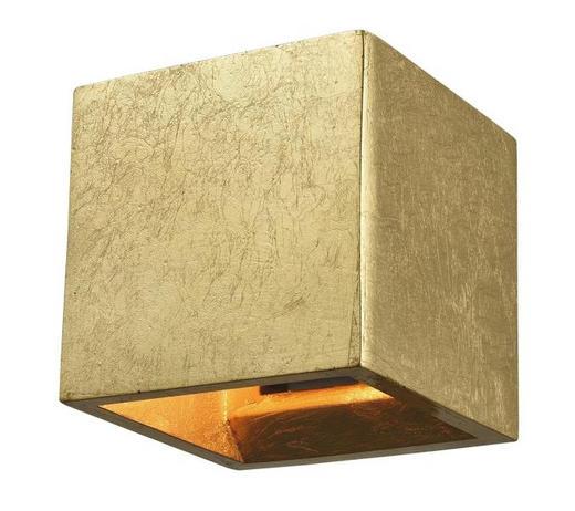 WANDLEUCHTE - Goldfarben, MODERN, Weitere Naturmaterialien (12/12/12cm)