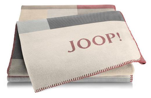 WOHNDECKE 150/200 cm Anthrazit, Naturfarben, Rot, Sandfarben, Schwarz, Silberfarben - Sandfarben/Anthrazit, Textil (150/200cm) - Joop!