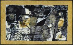 FUßMATTE 75/120 cm Abstraktes Gelb, Grau - Gelb/Grau, Basics, Kunststoff/Textil (75/120cm) - Esposa