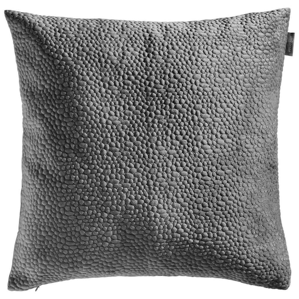 Ambiente Kissenhülle titanfarben 50/50 cm , Tenuta Samt Stick , Textil , Uni , 50 cm , Samt , 003917045907