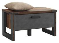 GARDEROBENBANK 83/45/42 cm - Dunkelgrau/Braun, Trend, Holzwerkstoff/Kunststoff (83/45/42cm) - Voleo