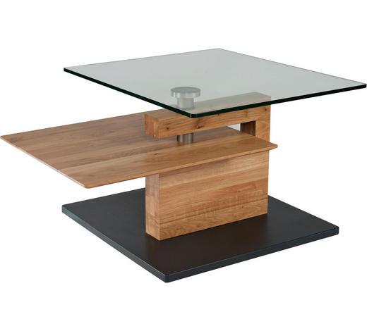 COUCHTISCH in Holz, Glas, Holzwerkstoff 100/90/32/46 cm - Eichefarben/Anthrazit, Design, Glas/Holz (100/90/32/46cm) - Novel