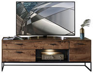 TV-ELEMENT 175/62/48 cm  - Eichefarben/Anthrazit, MODERN, Holzwerkstoff/Metall (175/62/48cm) - Hom`in