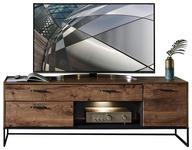 TV-ELEMENT 175/62/48 cm  - Eichefarben/Graphitfarben, MODERN, Holzwerkstoff/Metall (175/62/48cm) - Hom`in