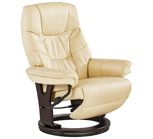 Cool Relaxsessel In Creme Dunkelbraun Holz Leder Textil Natur With