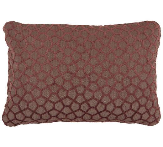 ZIERKISSEN 50/35 cm - Aubergine, Design, Textil (50/35cm)
