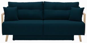 SCHLAFSOFA Petrol - Petrol/Naturfarben, KONVENTIONELL, Holz/Textil (200/92/95cm) - Venda