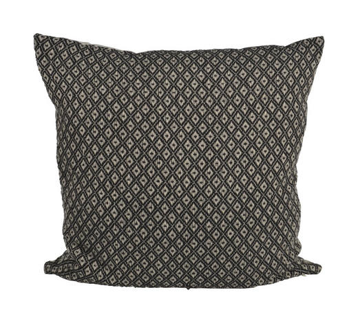 ZIERKISSEN  - Schwarz/Weiß, Trend, Textil (60/60cm)