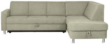 WOHNLANDSCHAFT in Textil Beige - Chromfarben/Beige, Design, Textil (198/266cm) - Xora