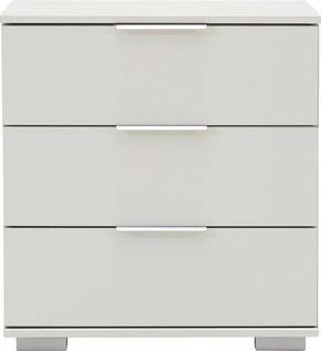 SÄNGBORD - vit/alufärgad, Design, metall/träbaserade material (52/58/38cm) - Carryhome