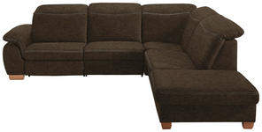 ECKSOFA Braun, Grau Mikrofaser  - Beige/Buchefarben, KONVENTIONELL, Textil (299/245cm) - Voleo