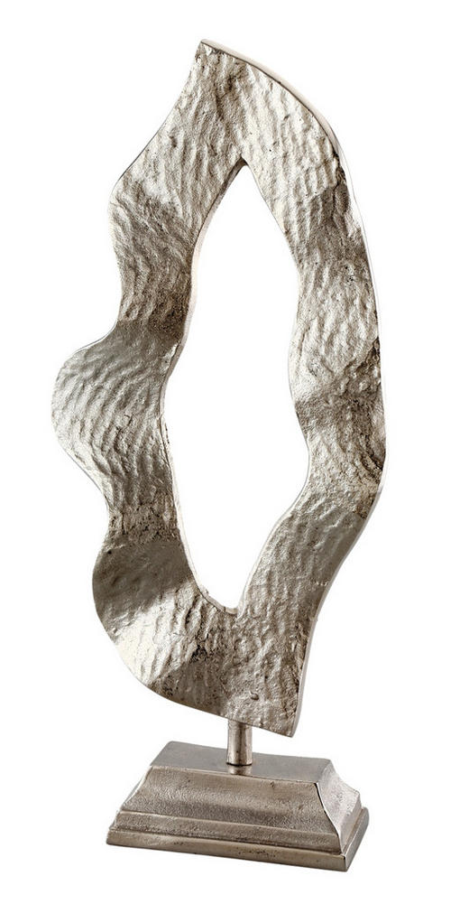 SKULPTUR - Silberfarben, LIFESTYLE, Metall (25/55/16cm) - Ambia Home