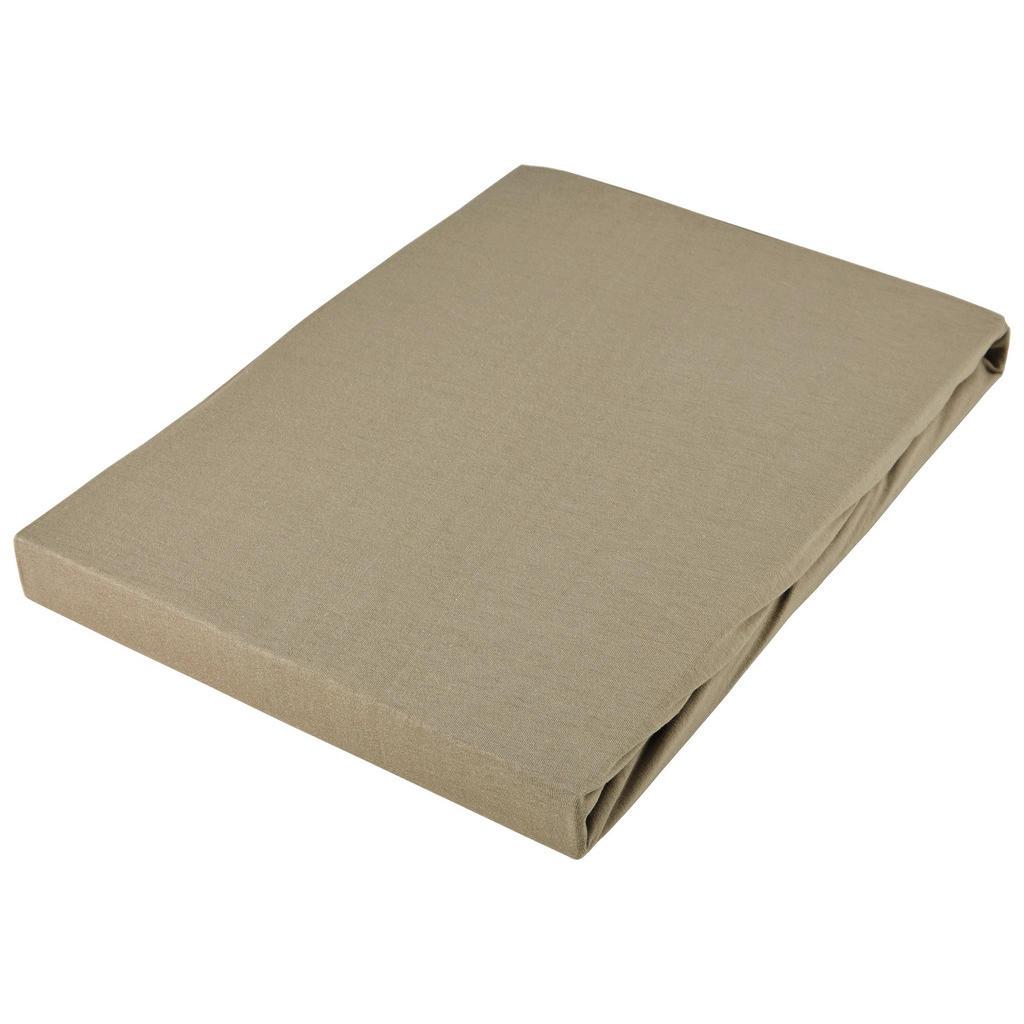 Novel NAPÍNACIA PLACHTA BOXSPRING, džersej, béžová, 180-200/200-220 cm
