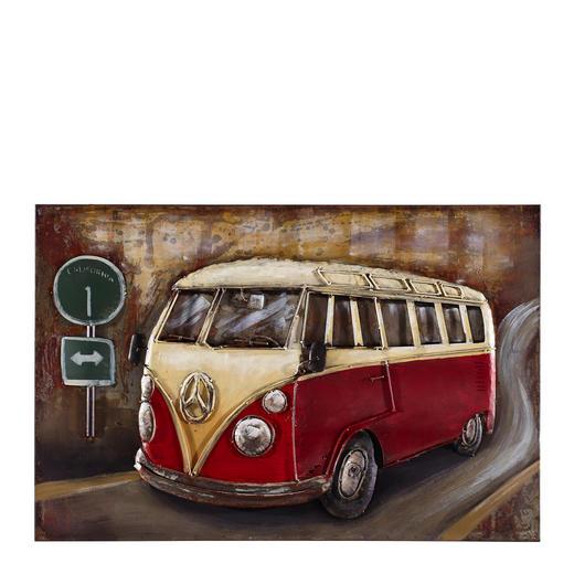 Fahrzeuge METALLBILD - Multicolor, Trend, Metall (80/120cm) - Monee