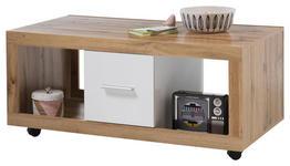COUCHTISCH in Holzwerkstoff 115/60/50 cm   - Eichefarben/Alufarben, KONVENTIONELL, Holzwerkstoff (115/60/50cm) - Carryhome