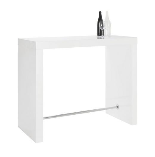 BAROVÝ STŮL, - bílá, Design, kov/dřevěný materiál (130/60/105cm) - Carryhome