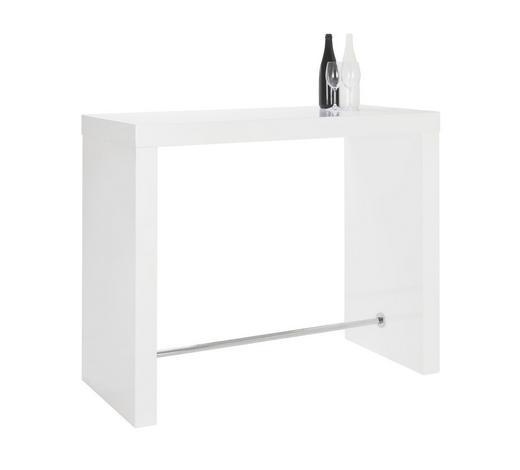 BAROVÝ STŮL, bílá - bílá, Design, kov/kompozitní dřevo (130/60/105cm) - Carryhome