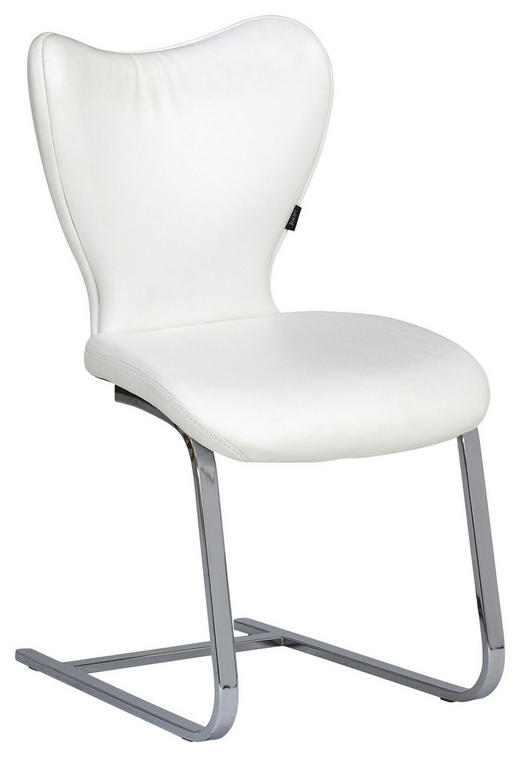 SCHWINGSTUHL Echtleder Weiß - Weiß, Design, Leder/Metall (48/91/64cm) - Joop!