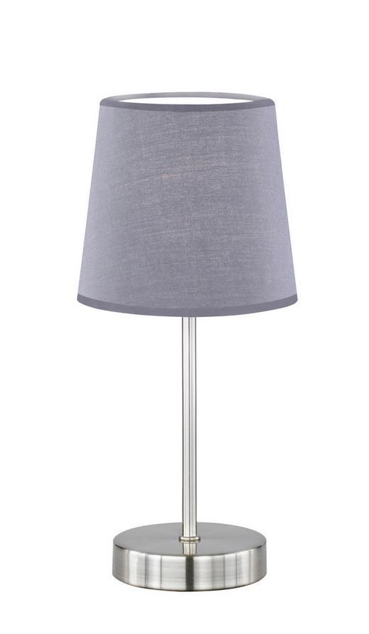 TISCHLEUCHTE - Grau, Design, Textil/Metall (14/32/14cm)